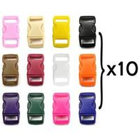 120PCS Bag 10MM12 Color Plastic Buckle Luggage Accessories Applicable To The Sale Of Bracelets