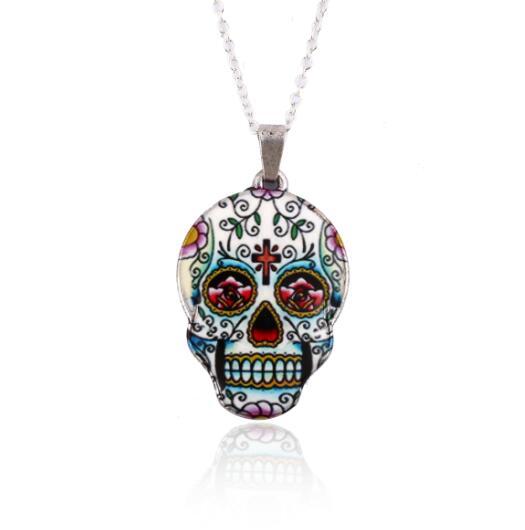 Necklace for Men Vintage Skeleton Pendant Necklace Women Skull Necklace Choker Party Halloween Decoration Gifts Collier Femme