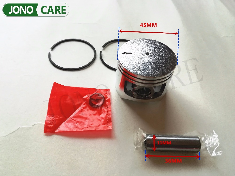45mm Piston Kit Garden Tool Parts 5200 Chainsaw Piston Assy Set with Ring and Pin for Chinese chainsaw 5200 52cc piston