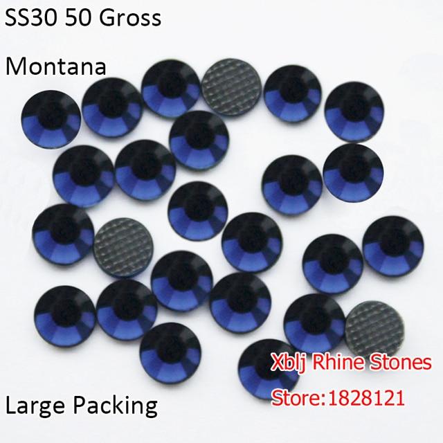 Xblj Rhine Stones Bulk Packing SS30 (6.4-6.6mm) 50 Gross Montana Loose  Flatback DMC Strass Stones Glass Hotfx Rhinestones. Price  da90e3e5351d