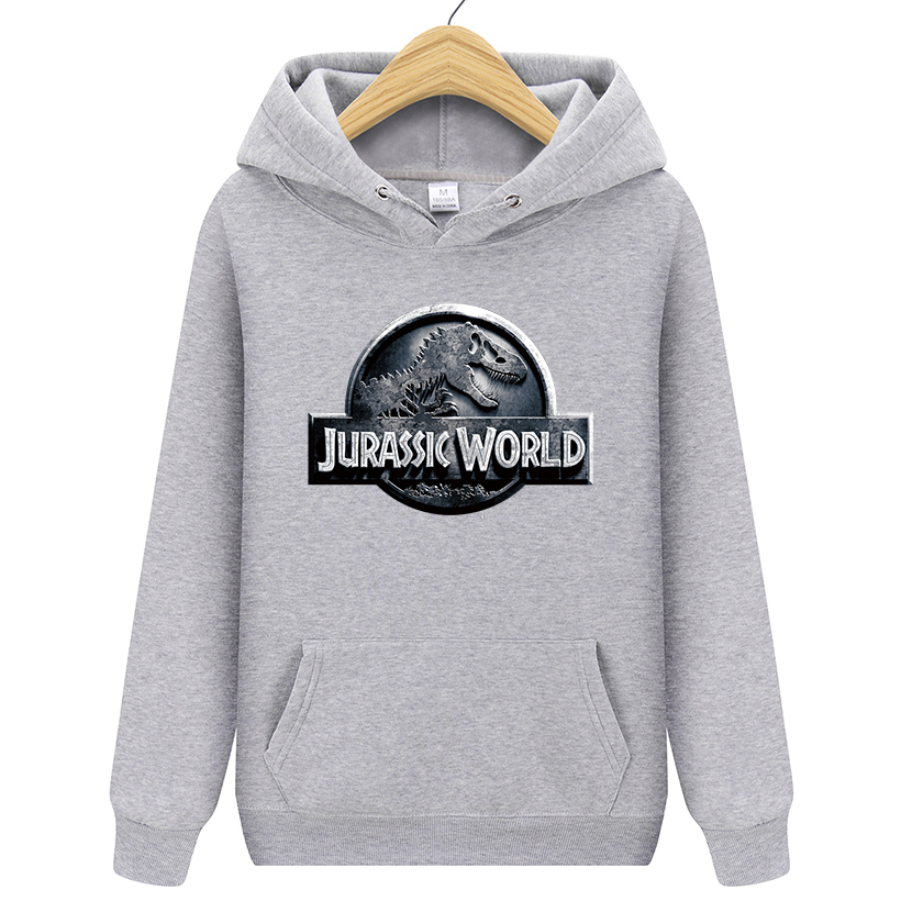 Jurassic Park Sweatshirt Men Women Pullover Fleece Hoodies Vintage Style Jurassic World Hoodie Unisex Jumper  S-XXL(China)
