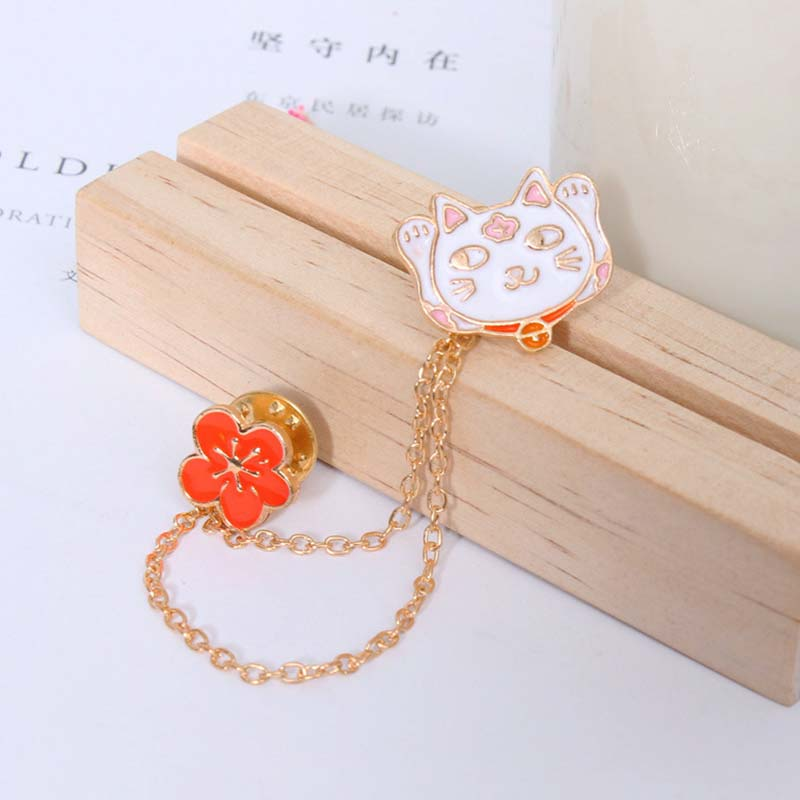6pcs/lot Cat brooch Pins bodice Brooch Cabochon Base safety Clothing collar pin for craft brooches wedding pin garment pins
