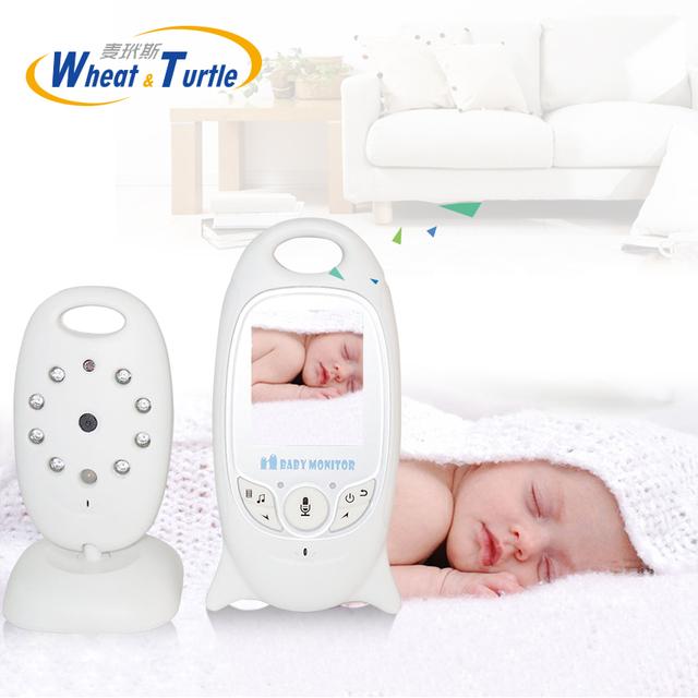 Video sin hilos de 2.0 Pulgadas Bebé Monitor de Visión Nocturna Cámara de Seguridad IR LED de Temperatura de Color Niñera Cuidado de Seguridad del Monitor de Vídeo de Alarma
