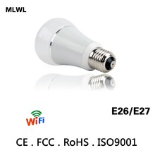Smart WIFI Lighting Remote Control 3W RGB Led Bulb Light E26 E27 6W LED Bulb Dimmer