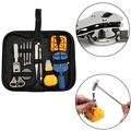 Cymii 13pcs a Set Watch  Repair Tool Kits Set Zip Case Holder Opener Remover Wrench Screwdrivers Watchmaker Watch Accessories