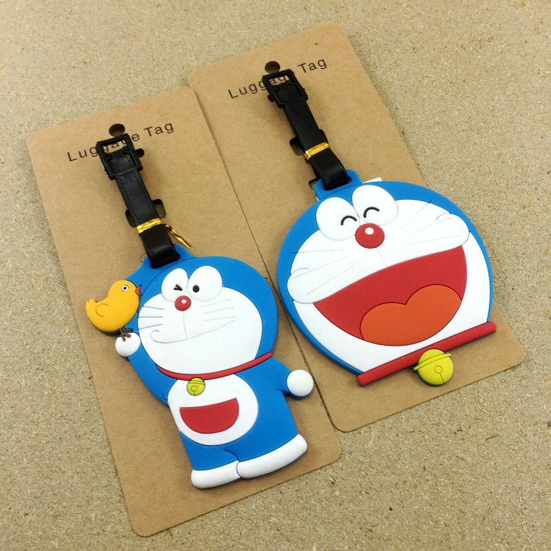 Label Luggage Suitcase Id Cartoon Boarding-Tag Address-Holder Travel-Accessories Silica-Gel