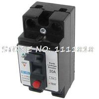 AC 110V 220V 20A Amp Double Poles 2P Earth Leakage Circuit Breaker