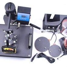 5 в 1 машина для сублимационной печати на кружках, футболках, шляпах, термопресс 110 В/220 В