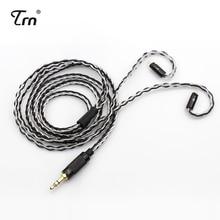 TRN MMCX/2Pin Connector 3.5/2.5mmBalanced 8 Core Koper Zilver Gemengde Kabel Voor TFZ TRN V80/ IM1 ES4 AS10 ZS10 BA10 NICEHCK M6/N3
