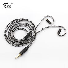 TRN MMCX/2Pin konektörü 3.5/2.5mmBalanced 8 çekirdekli bakır gümüş karışık kablosu TFZ TRN V80/ IM1 ES4 AS10 ZS10 BA10 NICEHCK M6/N3