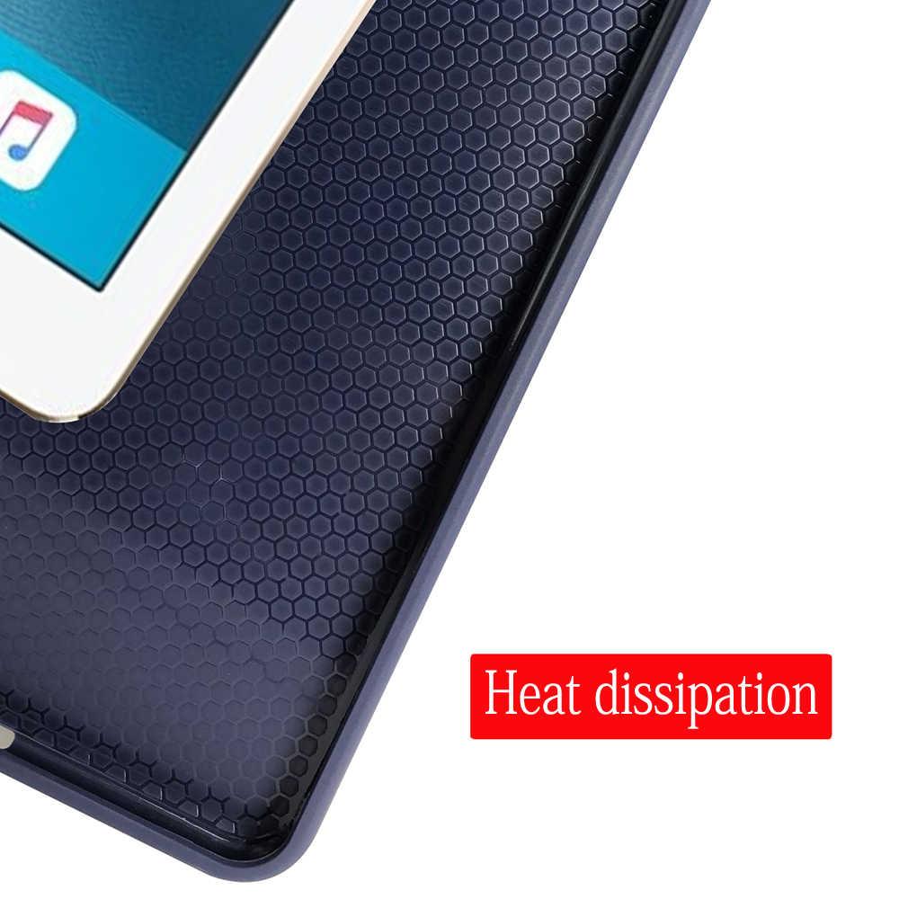 حافظة لجهاز iPad Mini 3 2 1 من الجلد الصناعي PU غطاء خلفي ناعم مع حامل ثلاثي الطي غطاء ذكي للنوم التلقائي لجهاز iPad Mini2 Funda