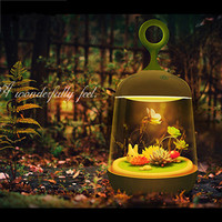 Plant DIY Lovely Birdcage LED Night Lamp Cute Portable Touch Sensor USB Rechargeable LED Lights Lamps