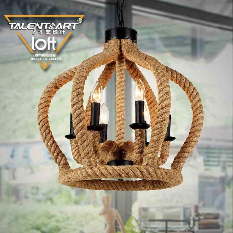 2016 new american pastoral vintage rope pandent lights nordic mediterranean restaurant creative cafe bar lighting in pendant lights from lights lighting