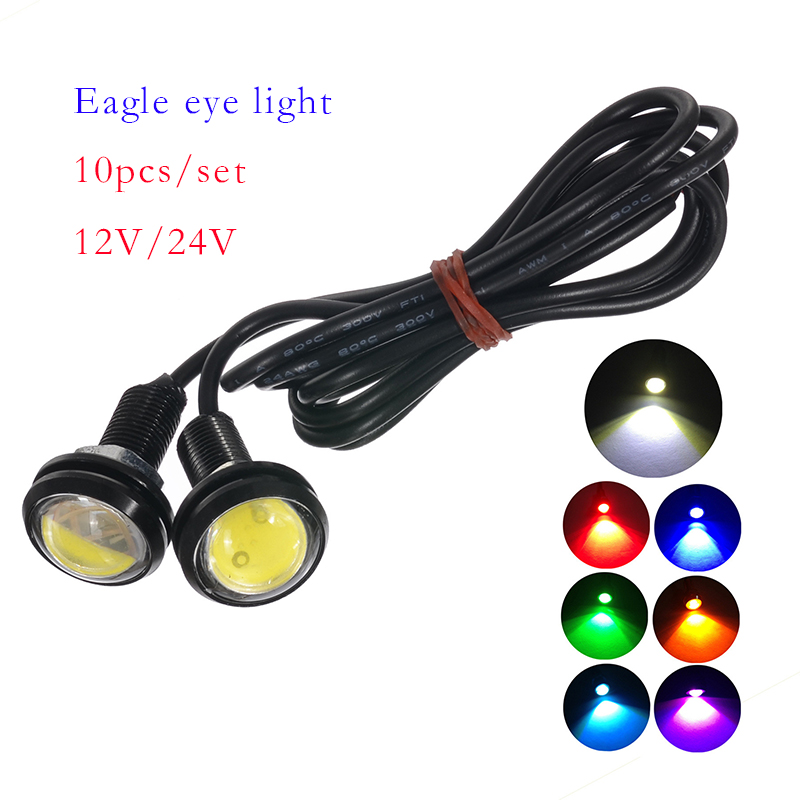 Electric Vehicle Parts Dashing 10pcs Led Eagle Eye Light Daytime Running Drl Backup Light Car Motor 9w Accessories