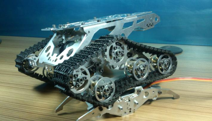 DIY 499 AlloyTank chassis tracked car for remote control robot parts for maker DIY development kit in Action Toy Figures from Toys Hobbies