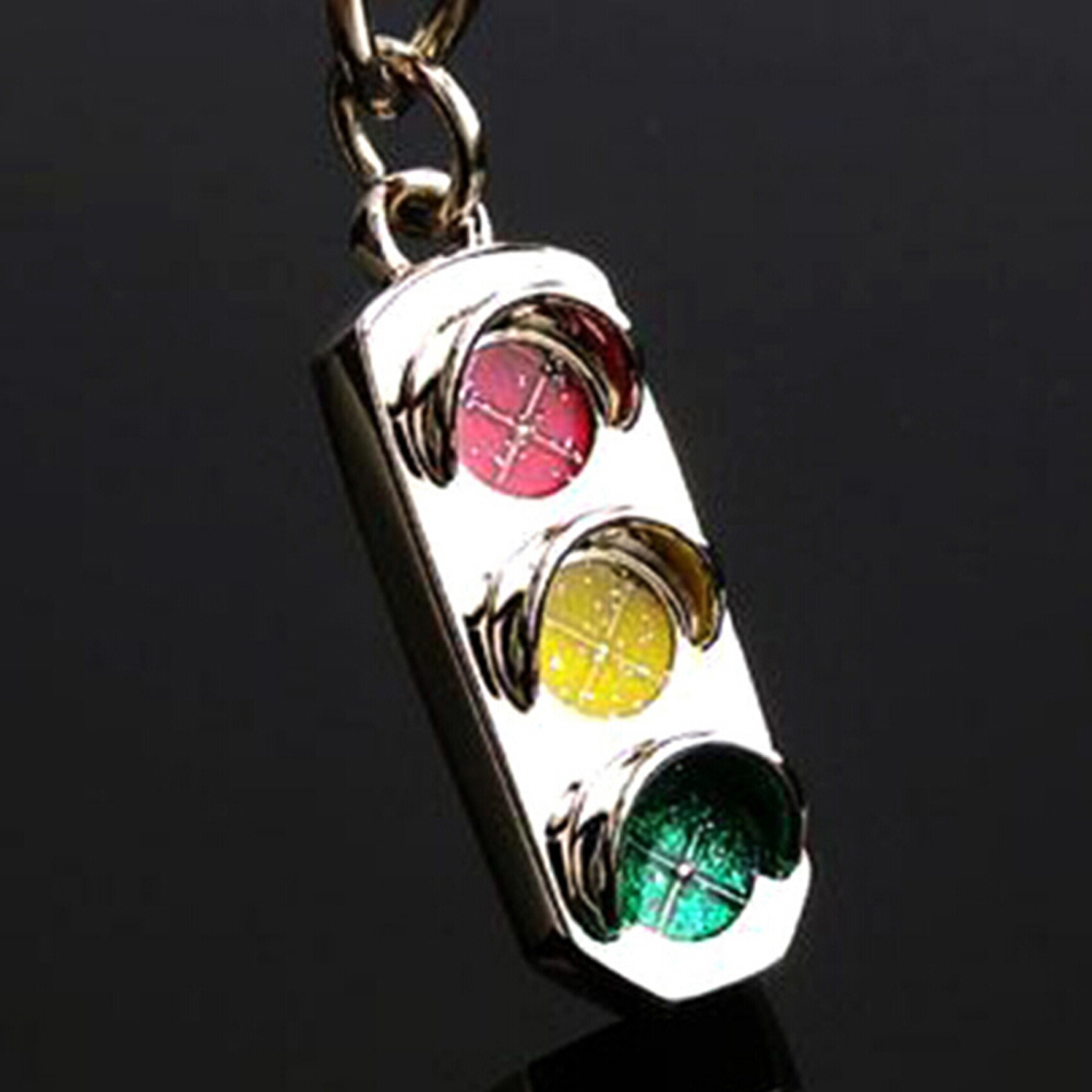 Hot Selling Metal Keychain Traffic Lights Red And Green Yellow Fashion Key Chain Creative Drop Shiippingkey Chain