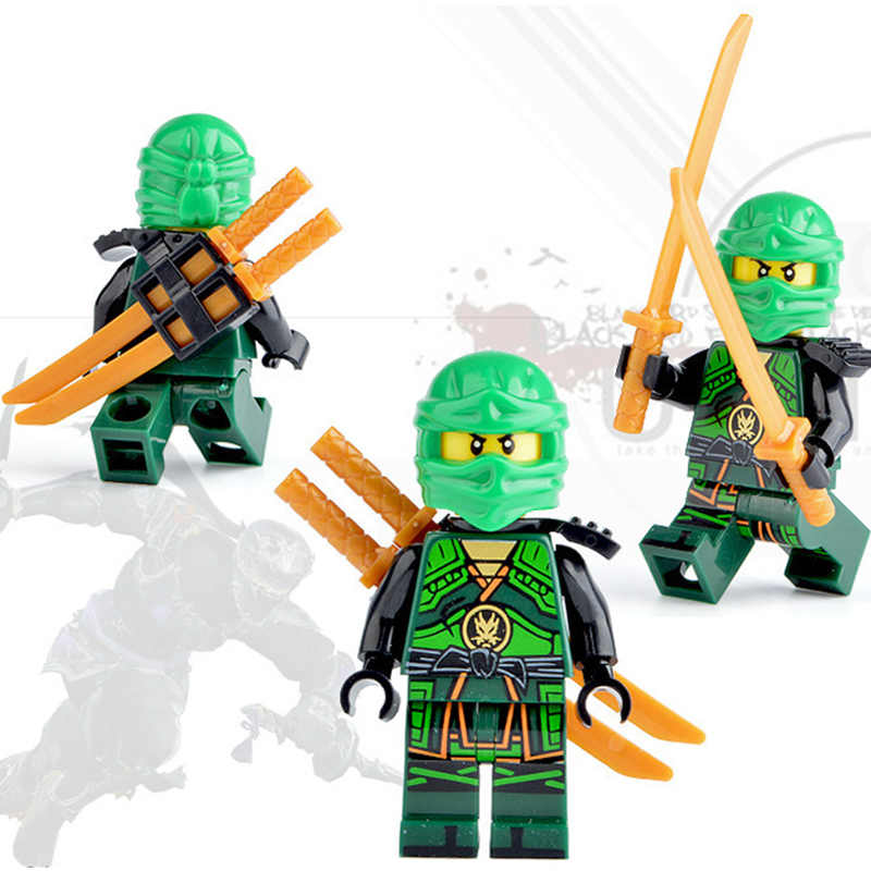 Героев ниндзя Коллекционная Фигурка строительные блоки, игрушки развивающие собираемая кукла NinjagoINGlys 8 шт./компл.