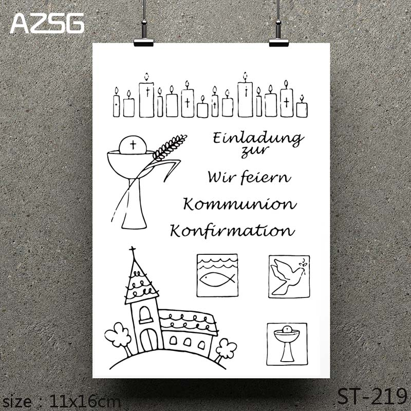 AZSG Easter Prayer Cross Clear Stamps seal for DIY Scrapbooking Card Making Photo Album Decoration Supplies in Stamps from Home Garden