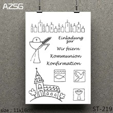 AZSG Easter Prayer Cross Clear Stamps/seal for DIY Scrapbooking/Card Making/Photo Album Decoration Supplies