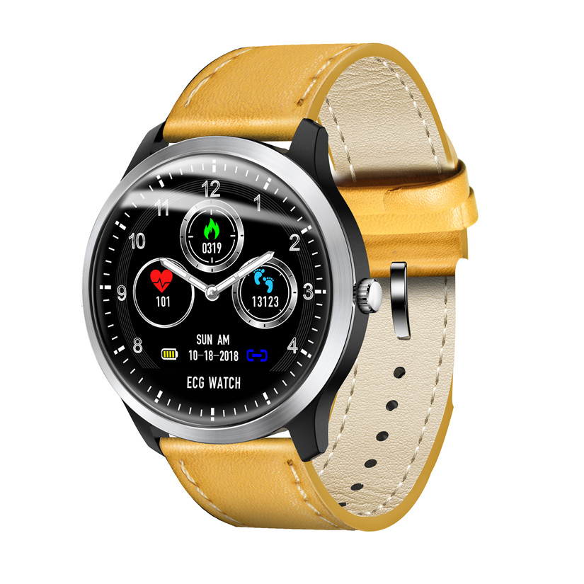 ECG PPG Smart Watch With Electrocardiograph ECG Display Holter ECG Bracelet Heart Rate Monitor Blood Pressure Color LCD Band