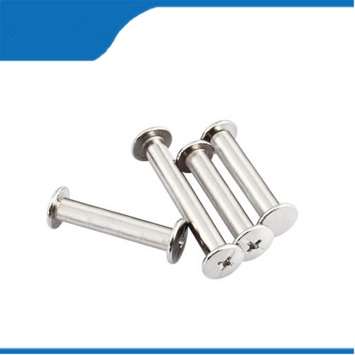 50PCS M5*4/5/6/8/10/12/15-125mm Nickel Plated Iron Rivet Book Picture Binding Screw Nail Recipes Albums Butt Rivet Leaflet