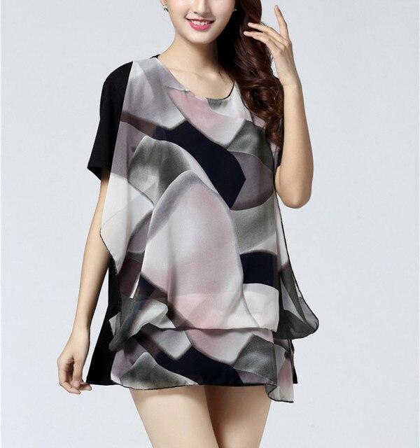 NEW 2016 spring summer women casual print short sleeve t shirt tops & tees plus size loose lady's fashion 3xl 4xl 5XL