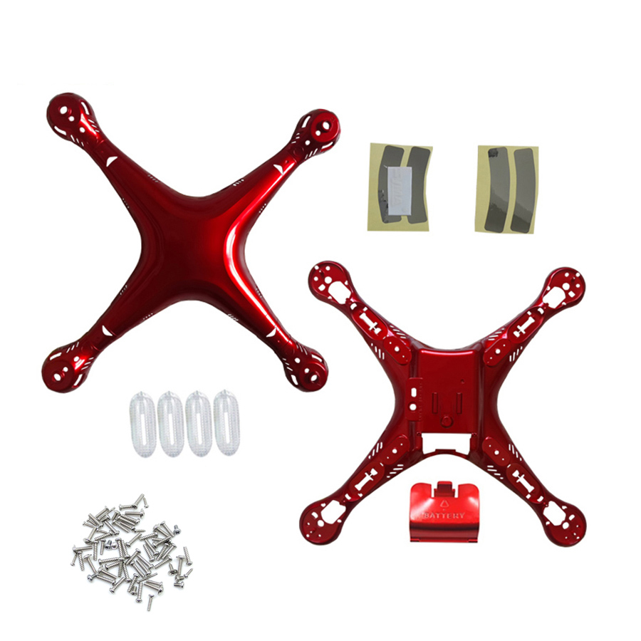 SYMA X8 X8HC X8HG X8HG Gold Red Color Main Body shell Cover For Quadcopter Fuselage Drone Spare Parts 2.4G 4CH RC Helicopter syma x8 x8c x8w x8g 2 4g rc drone quadcopter parts x8c 1 2 main body body shell 1set 2pcs lot free shipping
