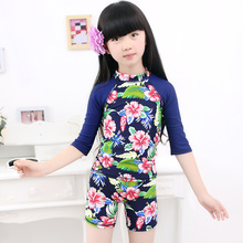 MANYIER Lovely Girls Swimsuit Children Camo Swimming Clothes Cute Kids Bathing Suit Swim Suit Long Sleeve Top Board Short