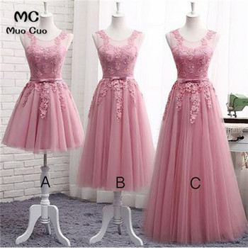 Blush Pink 2018 A-Line Sheer Lace Homecoming dress short with Appliques Bow cocktail party dress short homecoming dress