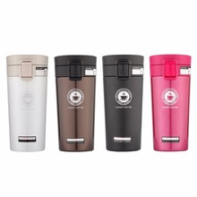 Just Ware Vacuum Insulated Stainless Steel Travel Coffee Mug with Easy-clean Lid Leak-proof Tumbler One Hand Operation
