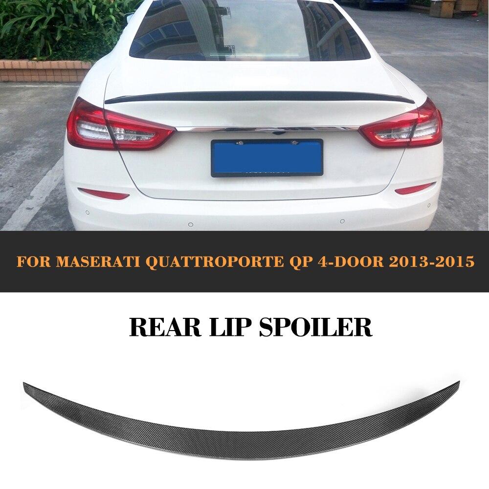 Fibre de carbone couvercle de coffre arrière aileron aile lèvre pour Maserati Quattroporte QP Executive GT 4 portes 2013 2014 2015 bâche de voiture