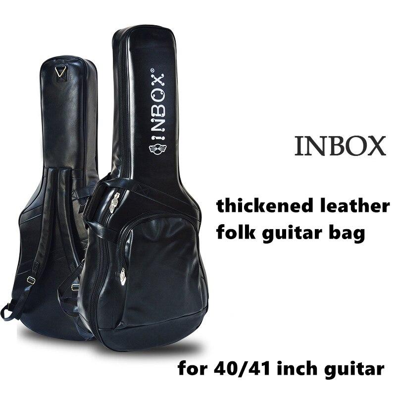 Высококачественная кожаная сумка для акустической/классической/фольклорной/электрической гитары сумка для бас гитары аксессуары для гитары запчасти - 4