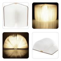 Wood Turning Books Nightlight USB Rechargeable LED Folding Lamp Book Creative Fashion Gift Table Lamp