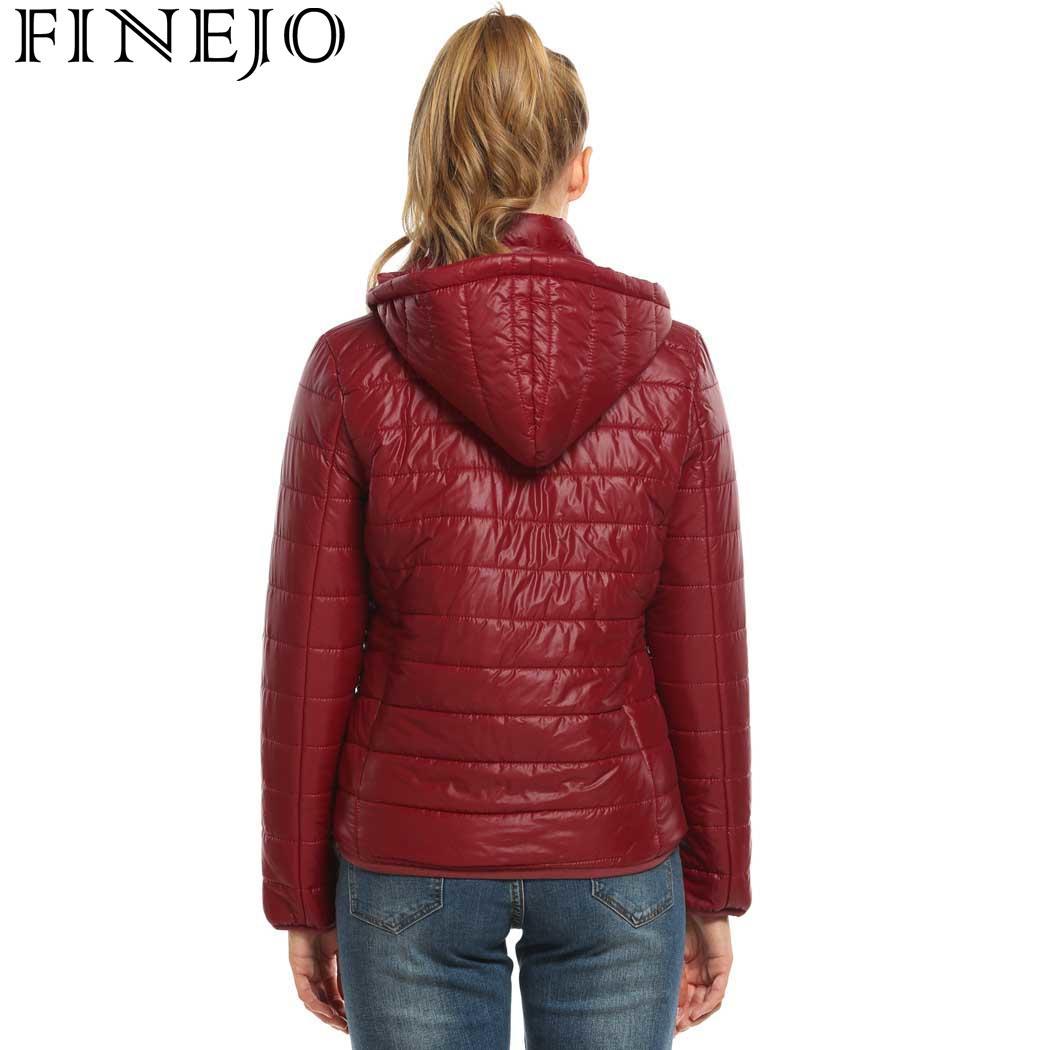 15ee9bf32c Aliexpress.com : Buy FINEJO Jacket For Winter Women Detachable Zip New  Fashion Black Solid Jacket Women Sleeve cHat Coat Hooded Casual Zip Outwear  ...
