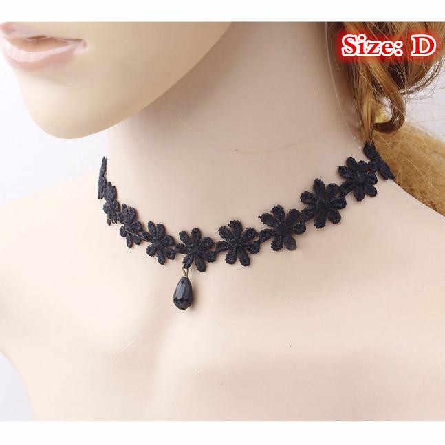 Hot Women's Fashion Necklace Black Lace Collar Choker Statement Bib Pendant Jewelries Choker Accessory Shocking Price Necklaces