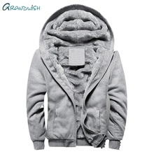 цены Grandwish Parka Men Coats New Winter Jacket Men Slim Thicken Fur Hooded Outwear Warm Coat Top Brand Clothing Casual Coat,DA877