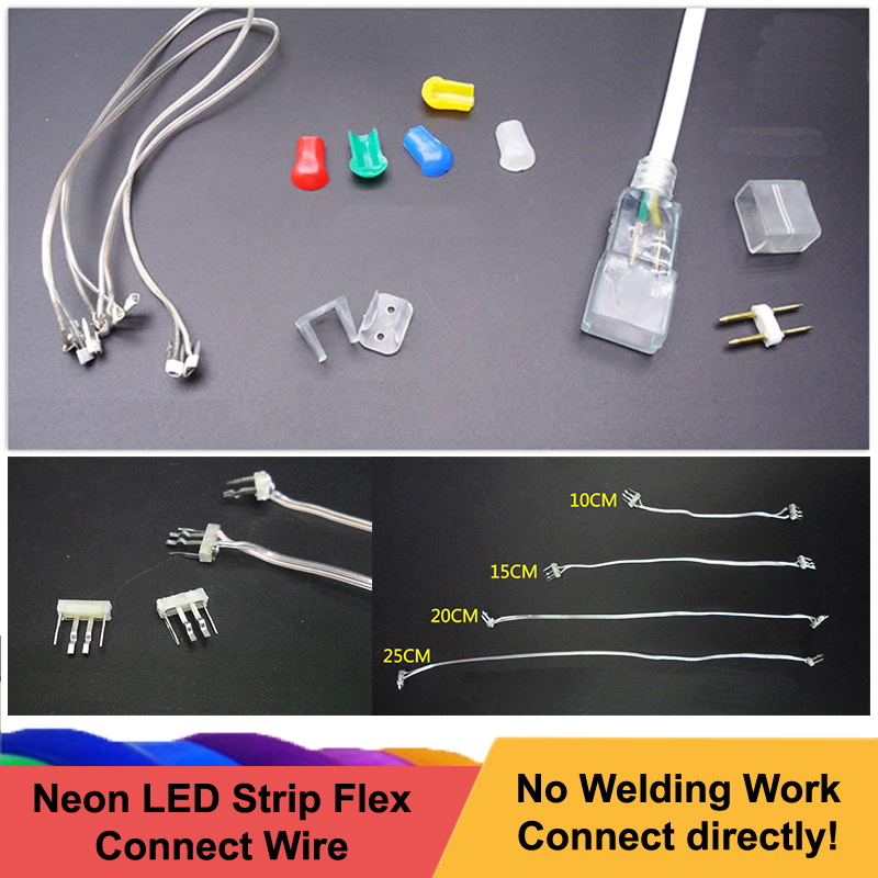 12V Neon LED Strips Mid Connection Connectors Flexible LED Strip Installation Accessories Non-Welding LED Connect Wire