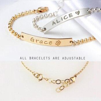 Lovely Custom Baby Name Bracelet Stainless Steel Adjustable Baby Toddler Child ID Bracelet-Personalized Girl Boy Friendship Gift