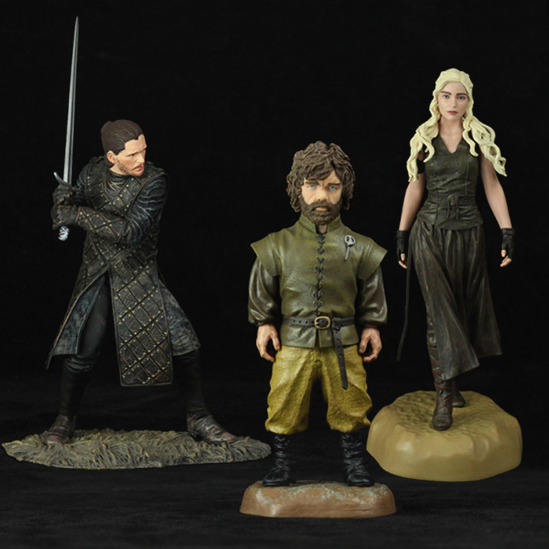 Game Thrones Action Figure Models Tyrion Lannister Jon Snow Daenerys Targaryen PVC Collections Statues