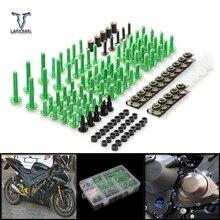 CNC Универсальный мотоцикл обтекатель/лобовое стекло Болты Винты Набор для Kawasaki z1000sx z1000 sx z750r zx10r zx10 r zx6r zx636