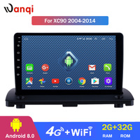 4G Lte All Netcom Android 8.0 Car GPS Navigation for 2004 2014 Volvo XC90 Radio Multimedia Player with Bluetooth