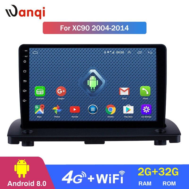 4G Lte Todos Netcom Android 8.0 de Navegação GPS Do Carro para 2004-2014 Volvo XC90 Radio Multimedia Player com bluetooth