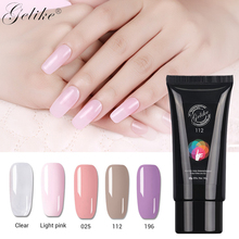 Gelike 60g Poly  Finger Extension Clear Pink Jelly Polygel Quick Building Nail Art Tips Extend UV Builder Camouflage