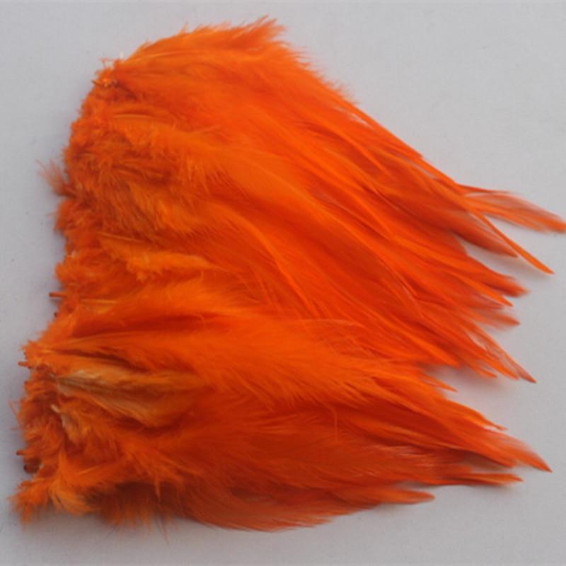Hot sales wholesale 100pcs pretty 4-6 inches  10-15cm orange Pheasant neck feathers DIY clothing hat decoration