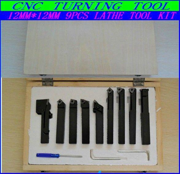 most Free fast shipping Hard Alloy 9PCS /12MM Turning tool kits ,Lathe tool kits cutter