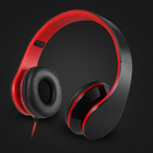 Portable Foldable Casque Audio 3.5mm Wired Headphones Headband Headset Gamer Handsfree With Mic Stereo Cuffie Fone de ouvido