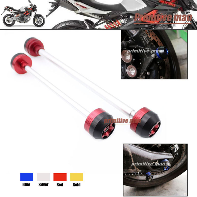 ФОТО Motorcycle For Aprilia RSV 1000 2004-2007 Front & Rear Axle Fork Crash Sliders Wheel Protector Red