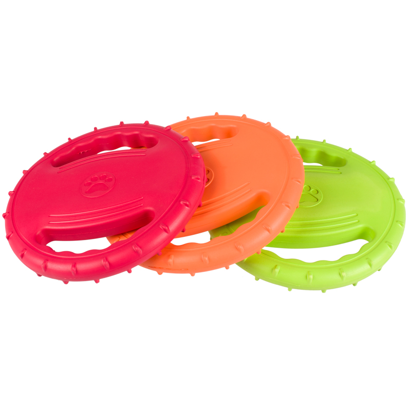Interactive Training Floating Outdoor Eco-friendly EVA Dog Toys Pet Tooth Resistant Fetch Training Flying Disc Playing Toy