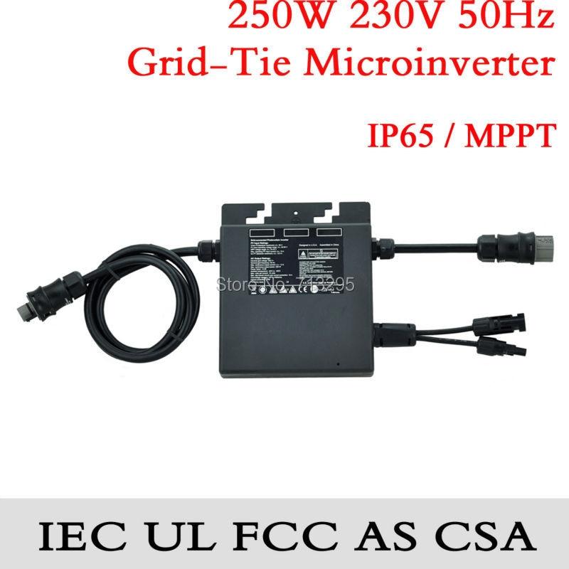 250W AU  MPPT IP65 Microinverter, high efficiency, on-grid micro inverter, 240V, 50Hz, IEC/UL/AS/FCC/CSA