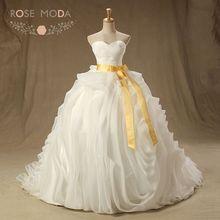 Rose Moda 3D Ruffled Organza Ball Gown Wedding Dress for